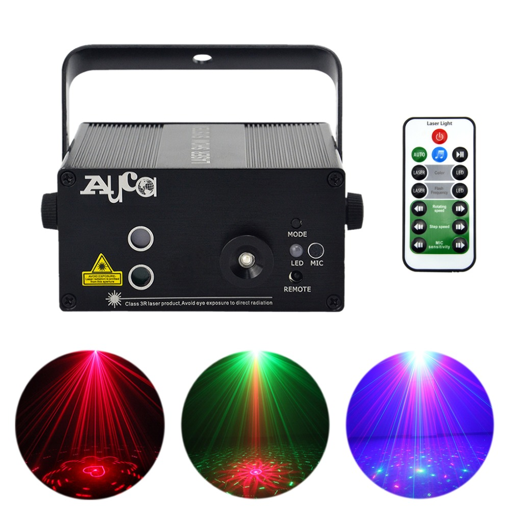 3 Lens 40 Gobos Red Green Laser Projector Light Mixing 3W Blue LED Effect DJ Wedding Christmas Show Stage Lighting L40RG все цены