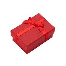 60pcs תכשיטי תיבת עגילי שרשרת טבעות אריזת מתנה אריזת תצוגת תכשיטי נייר באיכות גבוהה עם לבן ספוג