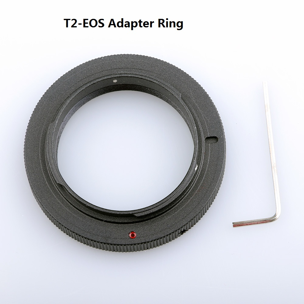 Aluminum Alloy T2 Mount Adapter Ring for Cannon 5D 7D 50D 60D 550D 500D 600D 700D 1000D 1200D T5i T4i T3i T2i T1i