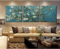 3 Panels Modern Printed Van Gogh Flower Tree Oil Painting Picture Canvas Art Home Decor Wall