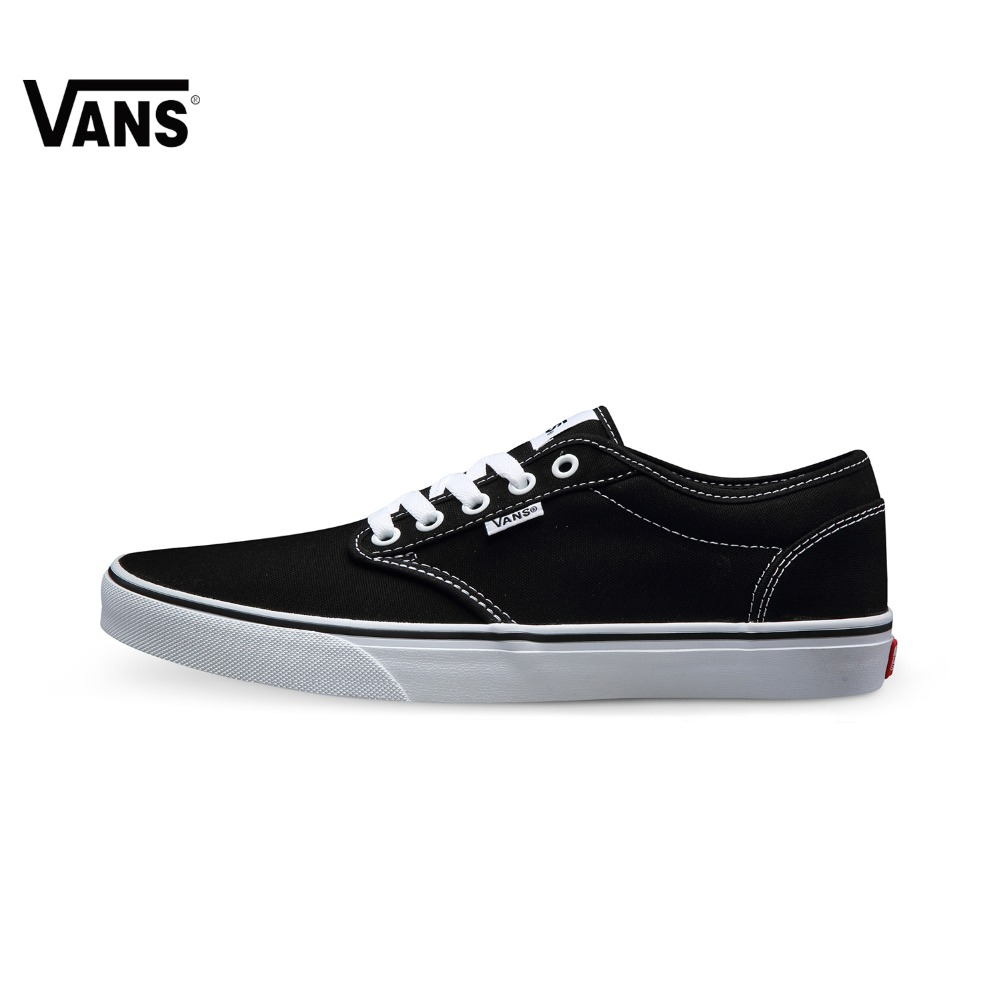 e34218f06d Original Vans Black Color Low-Top Men s Skateboarding Shoes Sport Shoes  Vnas Sneakers Brand Design