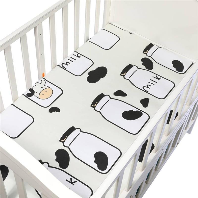 130*70 Cm Grootte Pasgeboren Veranderende Nappy Pad Wasbare Matras Kinderen Spel Vloermatten Herbruikbare Baby Cartoon Changing Luier Pads