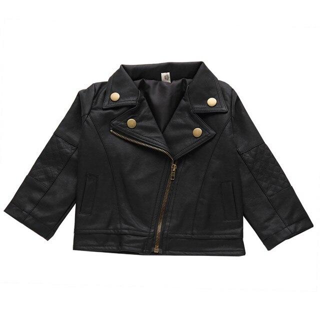 Infant Girls Coat 2019 Spring Leather Jacket For Baby Boys Girls Jacket Kids Warm Outerwear Coat For Baby Jacket Newborn Clothe