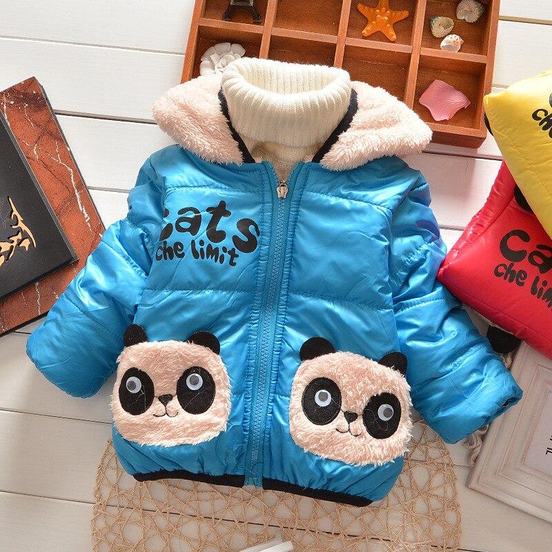 The New 2016 Boys And Girls Jackets Cartoon Bear Children Warm Cotton Overalls Children Winter Coat To Children's Children