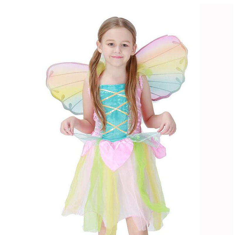 2017 Girls Kids Children Halloween Carnival Cosplay Fancy Costume Princess Dress Outfits Christmas Party Kids Clothes european style halloween show skeleton dress kids girls carnival fancy costume baby tutu party children cosplay vestido cloth