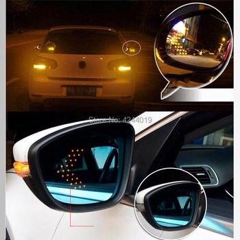 SmRKE Pour VW Volkswagen Passat Voiture Rétroviseur Grand Angle Hyperbola Bleu Miroir Flèche LED Clignotants