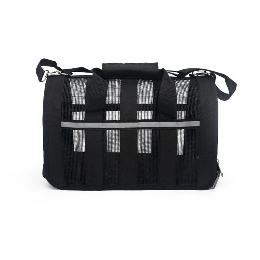 Дышащая Складная сетка сумка клетка для домашних животных для уличных собак кошек - Цвет: black