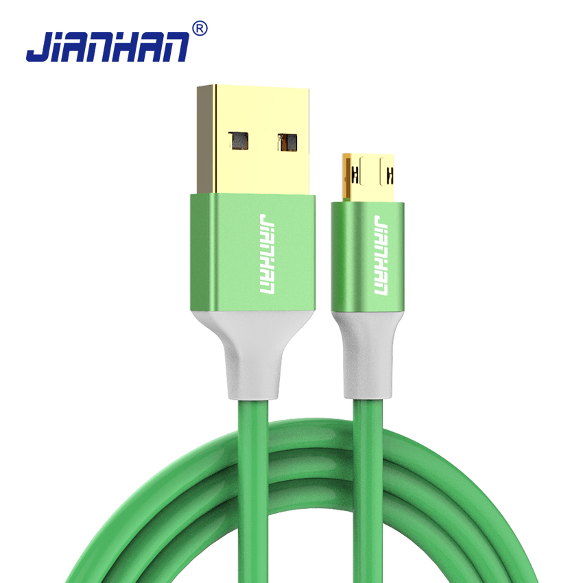 JianHan Micro USB Cable 1m 2A Fast Reversible Charger Phone Cable Micro USB for Samsung Galaxy S7 Xiaomi Redmi 4 HTC LG Android