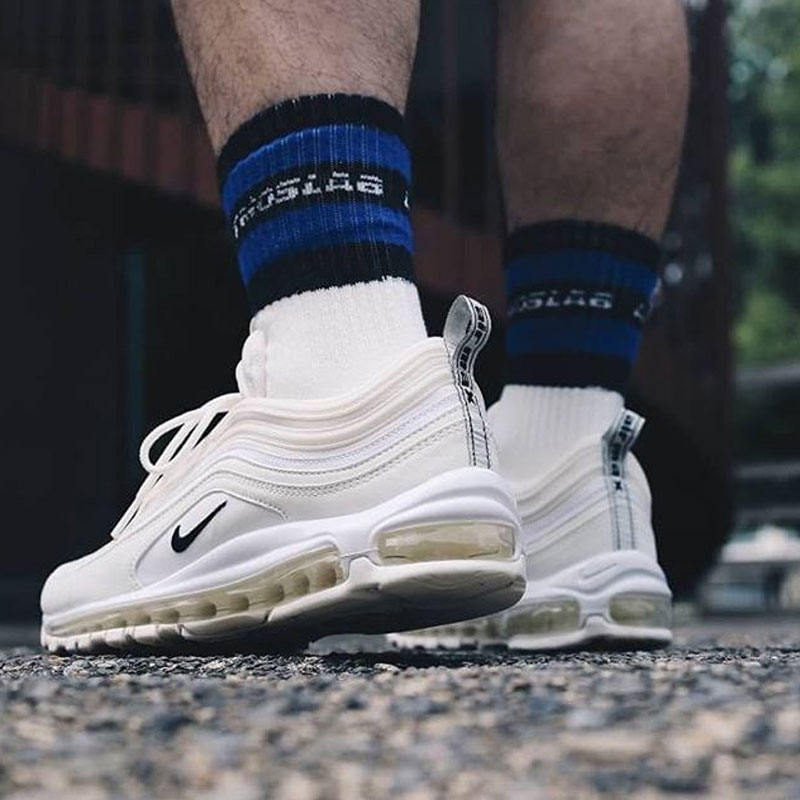 Original Authentic Nike Air Max 97 Reflective Logo 2018 Men Shoes Running Shoes Sport Outdoor Sneakers New Arrival Ar4259-001 Running Shoes Sneakers