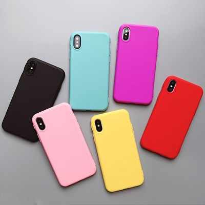 Effen Kleur Siliconen Coque Voor Iphone 6 6S 7 8 Plus Case Soft Tpu Candy Kleur Back Cover Voor Iphone Xs max Xr X 10 7 Plus 8 S Case