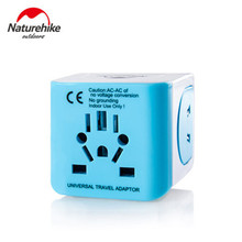 Naturehike في الهواء الطلق أدوات Transverter المقبس تحويل محول القابس العالمي السفر المقبس USB موصل للولايات المتحدة المملكة المتحدة الاتحاد الأوروبي