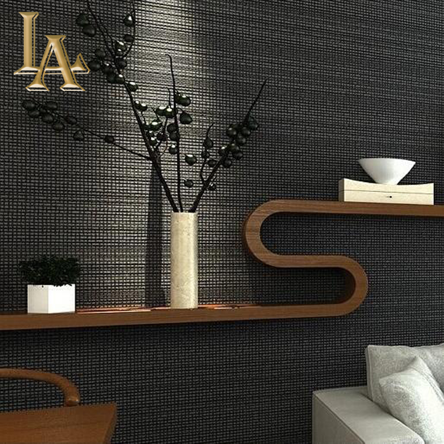 Buy european minimalist modern black and for Cheap black wallpaper