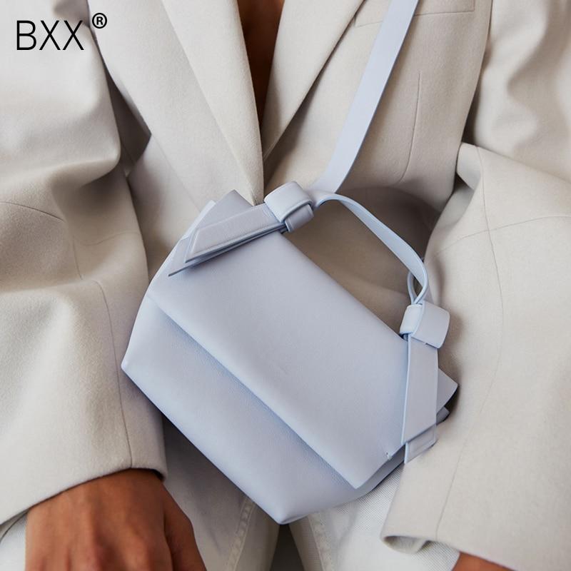 [BXX] Women's Single Shoulder Crossbody Bag All-match Flap 2020 Mini Brand Designer Tide Female Fashion PU Leather Package HG644