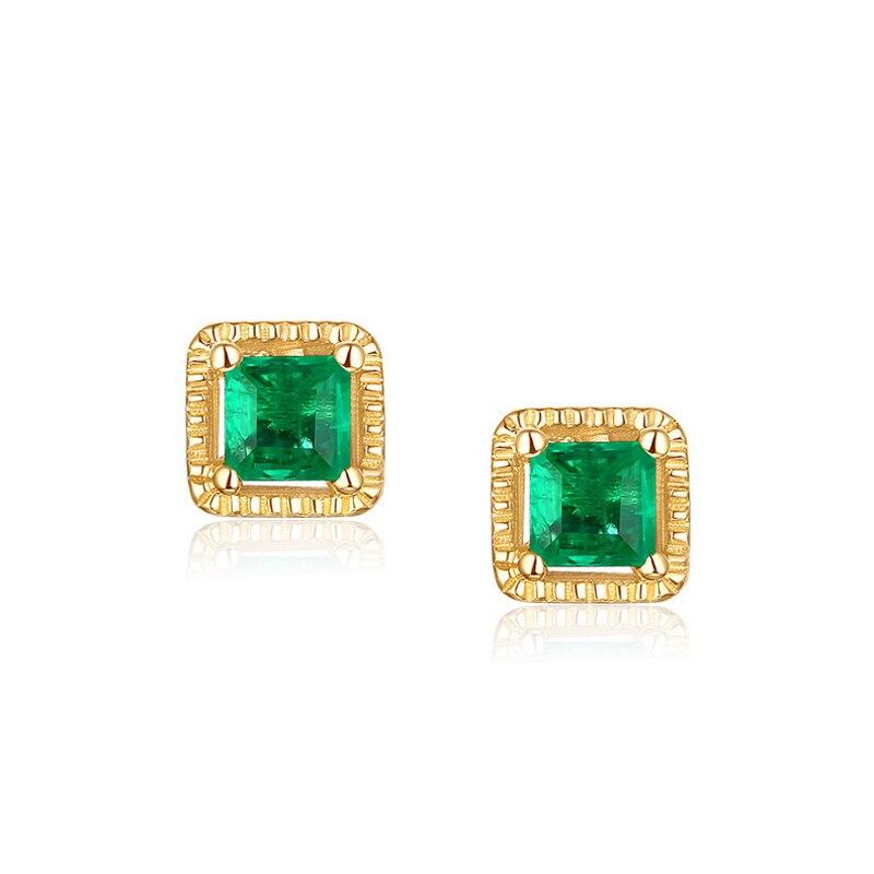 JXXGS Jewelry 14K Gold Earring Green Cubic Zircon Earrings Square Stud Earrings For WomenJXXGS Jewelry 14K Gold Earring Green Cubic Zircon Earrings Square Stud Earrings For Women