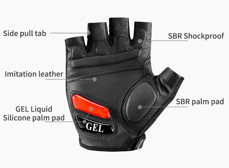 HTB1cGMlOOLaK1RjSZFxq6ymPFXaT - ROCKBROS Cycling Gloves MTB Road Gloves Mountain Bike Half Finger Gloves Men