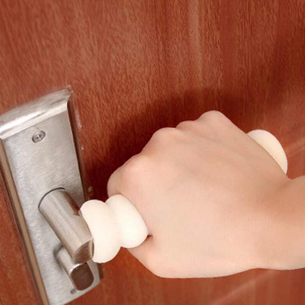 1 шт. комнаты от ушибов спираль детские, для малышей Детская безопасность дверная ручка Защитная крышка Новый предотвращения столкновений ручки для детей