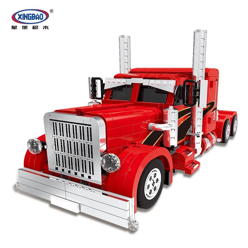 XingBao 03012 1505 قطعة حقيقية تكنيك شاحنة سلسلة الأحمر الوحش مجموعة اللبنات الطوب الجمعية نماذج من الشاحنات الثقيلة Jugetes-في حواجز من الألعاب والهوايات على  مجموعة 1