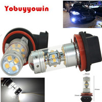 2XBLANCO H11 H8 H16 CREE Sharp Chips 140W 1200lms BOMBILLAS LED FARO ANTINIEBLA For TOYOTA AVENSIS