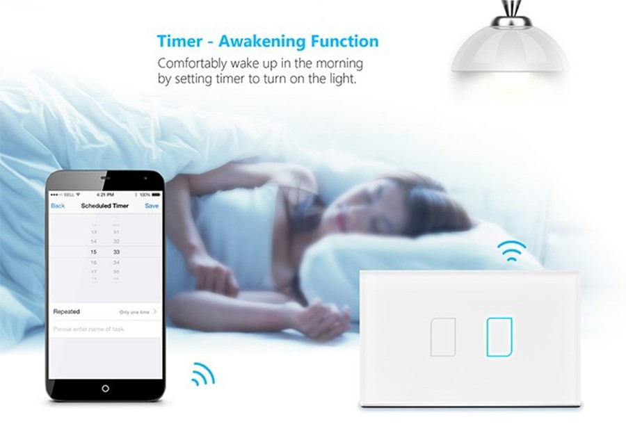 4 Broadlink TC2 1Gang 2Gang 3 Gang Touch Switch,US AU Standard Smart Home Automation,RF433 Wireless Wifi Control Light Wall Switch