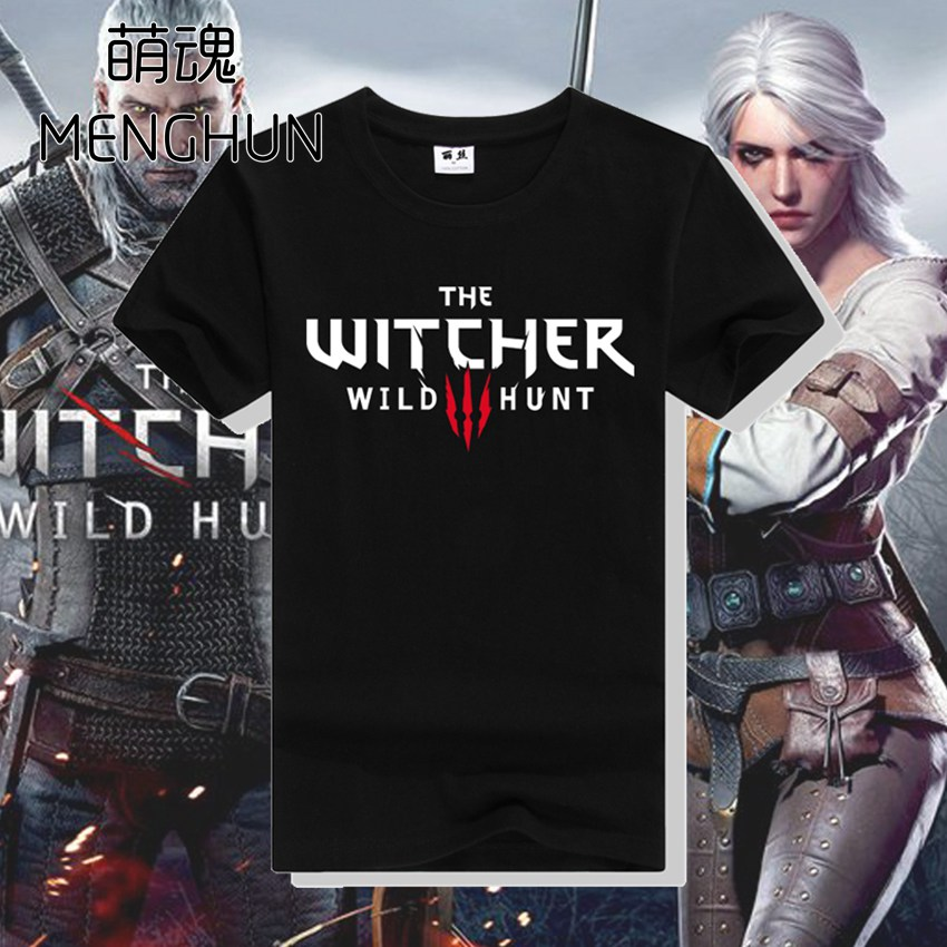 Hot game fans t shirt The witcher wild hunt high quality cotton t shirt for boyfriend gamer t shirt ac158