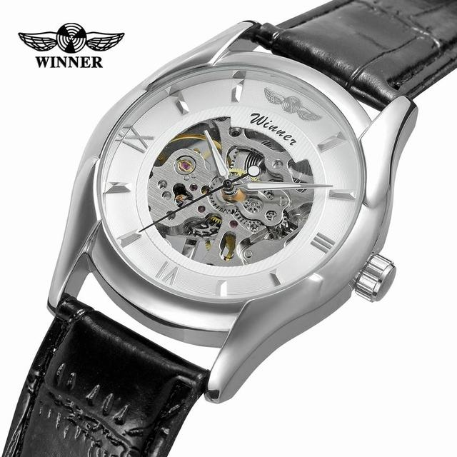 9f82c6ab4d2 Vencedor Branco Preto Masculino Relógio Montre Relogios Homens Esqueleto Mens  Relógios Top Marca de Luxo relógio