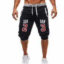 Brand design Fashion logo Shorts Men 2018 Mens Casual Jordan23 Knee Shorts Male Loose Quick Drying Beach Shorts Jogger Hommes(China)