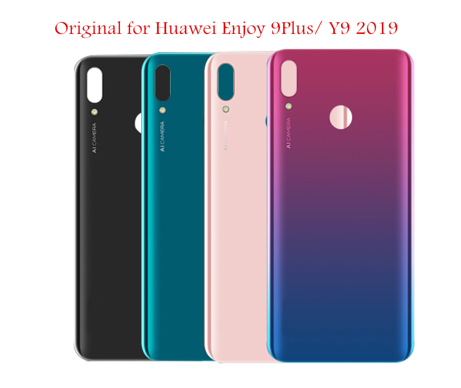 Original For Huawei Y9 2019/ Enjoy 9 Plus Battery Back Cover Glass Panel Rear Cover Housing Door Enjoy 9 Plus Repair Spare Parts