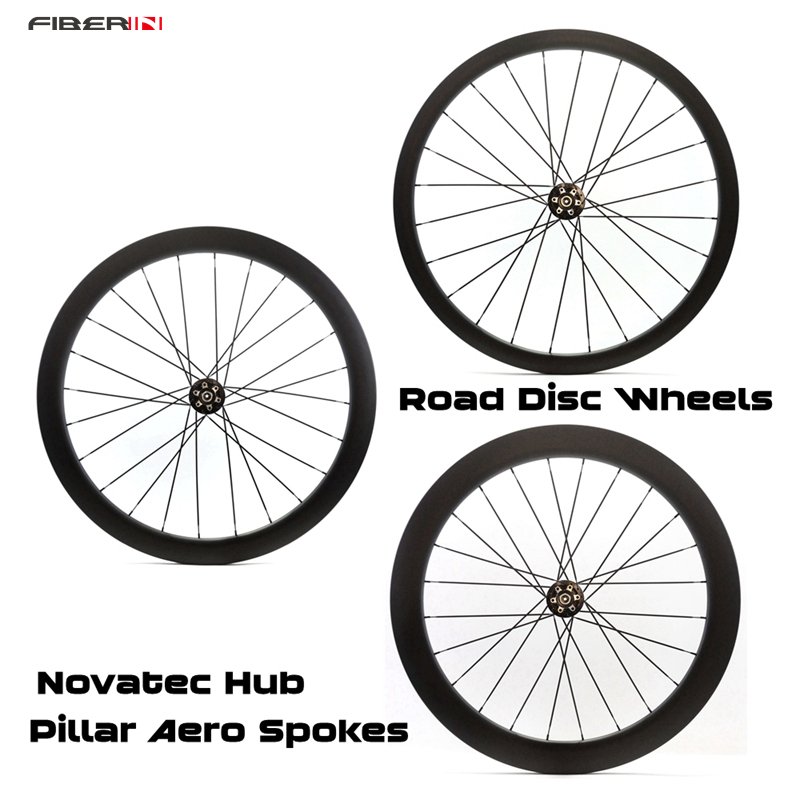 Sales!!! toray T700 fiber  700C 38/50/60mm clincher matte black thru axle wheelset carbon wheels for road bike with disc brakes