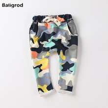 ФОТО 2016 spring baby girls boy kid haren cotton camouflage pants fashion outdoor boys sport pants trousers patchwork jogger pants