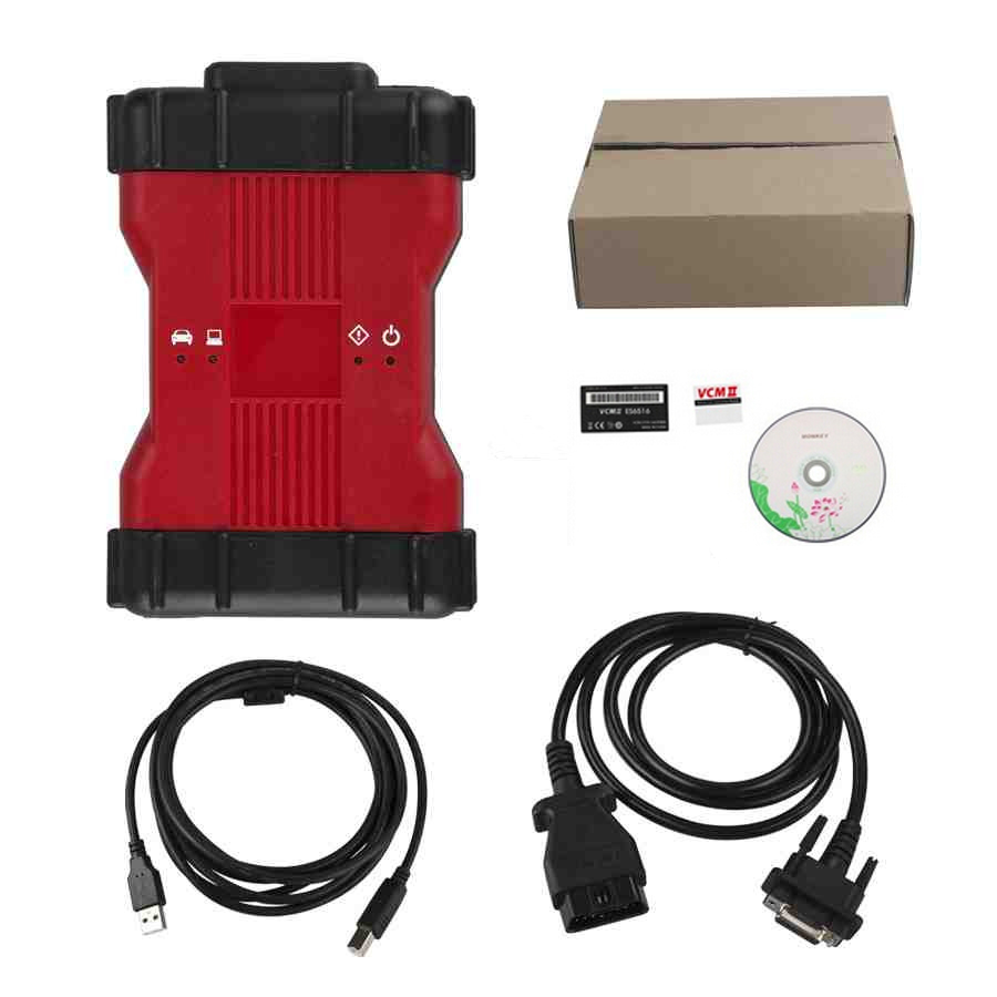 Free Shipping VCM II 2 in 1 Diagnostic Tool for Ford IDS V101 and for Mazda IDS V104 ford vcm obd diagnostic tool black