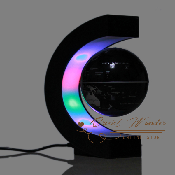 12pcs/lot Christmas gift freeshipping led electronic light magnetic levitation floating world map antigravity globe novelty gift