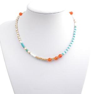 Женский разноцветный бисер Bojiu, яркое ожерелье, подарок на праздник, новинка NKS088