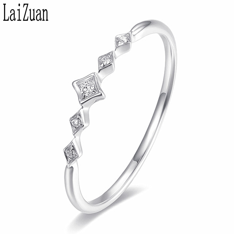 LaiZuan Moissanite Ring Sterling Silver 925 Jewelry VVS/DEF Color Test Positive Moissanite Diamond Engagement Wedding Ring Women