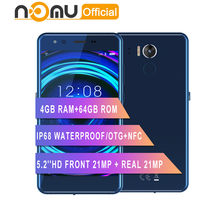 Nomu M8 IP68 Waterdichte smartphone android 7.0 MTK6750T Octa Core 5.2 ''21MP + 21MP 4 GB RAM 64 GB ROM 2950 mah 4G LTE Mobiele Telefoon(China)