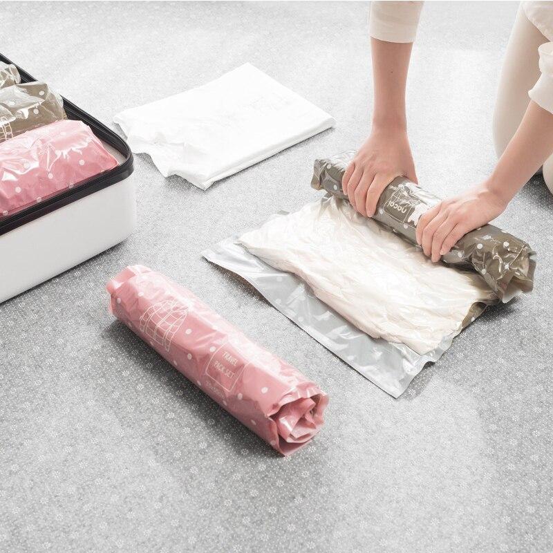 Cosmetic-Bag Closet-Organizer Zip-Packs Transparent-Bag for Clothes-Storage-Bag