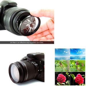 Image 3 - 58mm UV filtre Lens Hood + Lens kapağı + temizleme kalemi Canon EOS 90D 1500D 2000D 3000D 4000D Rebel T7 T100 18 55mm lens ile