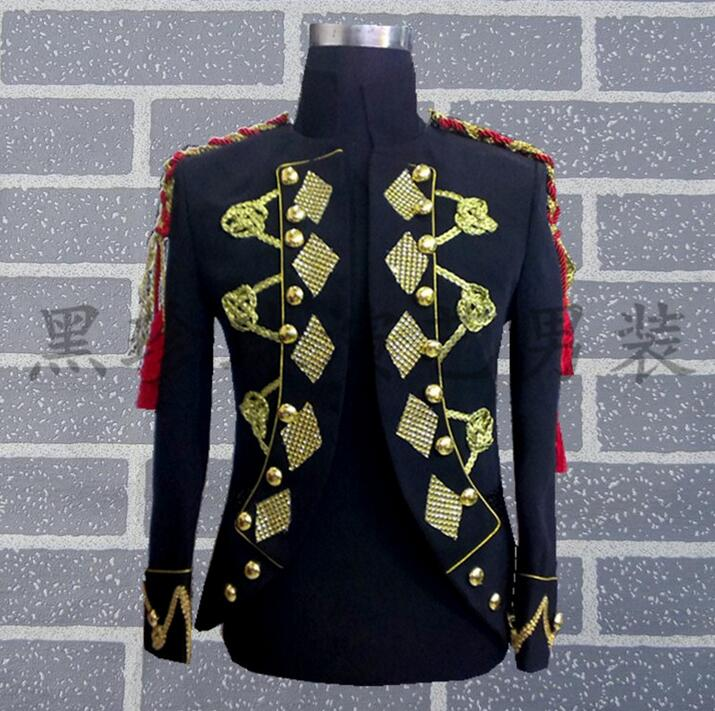 Royal Men Suits Designs Masculino Homme Terno Stage Costumes For Singers Men Blazer Dance Clothes Jacket Star Style Dress Punk