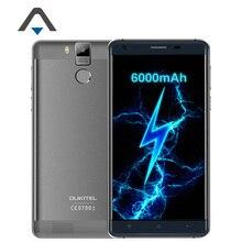 Оригинал K6000 Oukitel Pro 4 Г LTE Мобильный Телефон Android 6.0 5.5 «Octa Ядро MTK6753 3 ГБ RAM 32 Г ROM 13.0MP 6000 мАч Отпечатков Пальцев ID