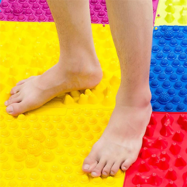 29*39CM Soft Acupuncture Foot Massager Floor Carpet Mat Colorful Medical Therapy Mat Foot Massage Pad Massaging Feet Care sale