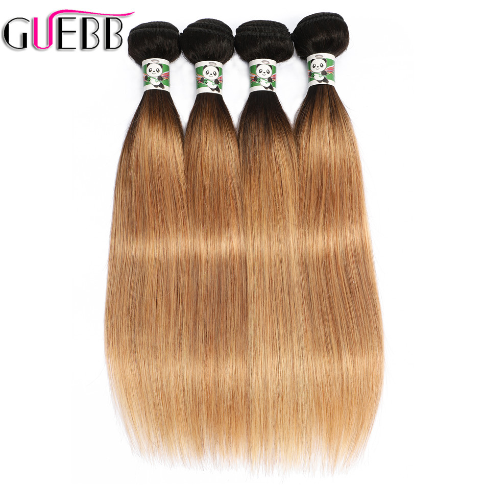 GUEBB Blonde Bundles Ombre Hair Bundles 1B 27 Color Straight Non Remy 100 Human Hair 10