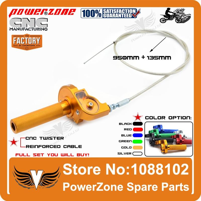 Cnc Aluminum Throttle Grip Quick Twister   Throttle Cable