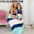 2016 summer Mother Daughter Dress stripe matching mother daughter clothes Family look Mom And Daughter dress ropa mama e hija