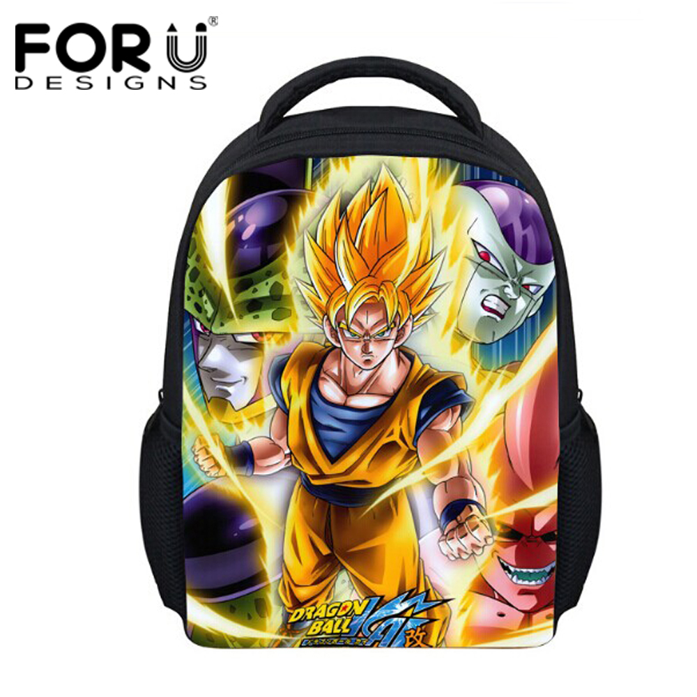5b4327ae4f FORUDESIGNS 12 Inch Schoolbags for Kids Dragon Ball Z Printing Cartoon Cut Baby  Kids School Bag Small Schoolbag Backpack Mochila