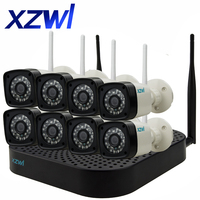 8CH CCTV System Wireless 960P NVR 8PCS 1 3MP IR Outdoor P2P Wifi IP CCTV Security
