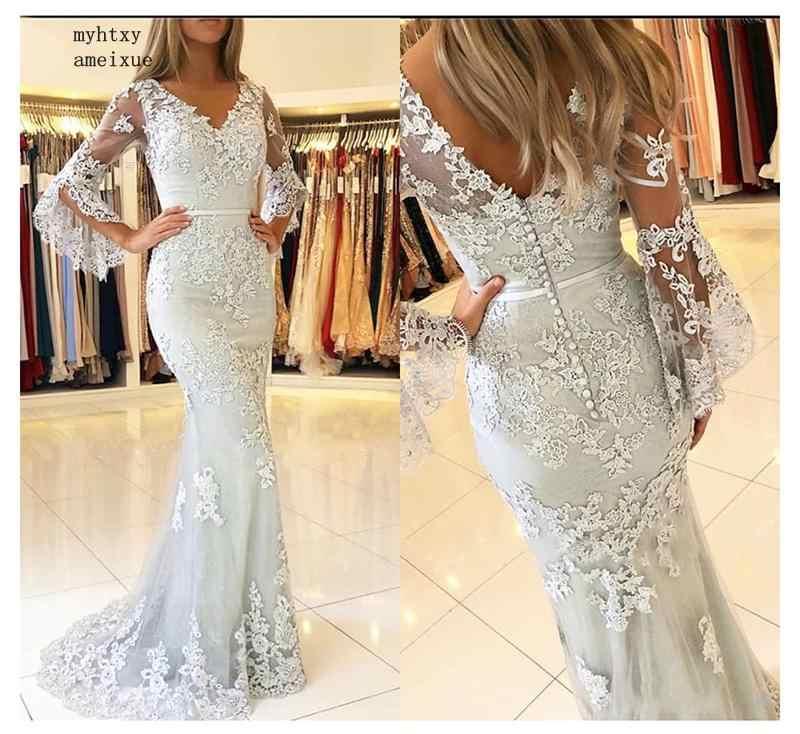 Vintage Lace Sereia Vestidos de Casamento 2019 Vestidos De Novia Sirena Lorie Cabo Mangas China Vestidos de Casamento Vestidos de Noiva