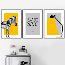 Zebra Table Lamp Quotes Landscape Wall Art Canvas Painting Nordic Posters And Prints Wall Pictures For Living Room Wall Decor black white zebra quote landscape wall art canvas painting nordic posters and prints animals wall pictures for living room decor