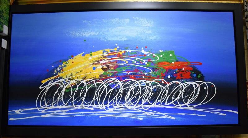 100% Əl Boyalı Müasir Abstrakt Yağlı Kətan Rəsm Velosiped - Ev dekoru - Fotoqrafiya 1