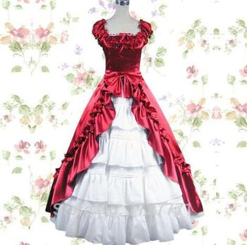 (LD001) Red and White Princess cosplay costume for girl