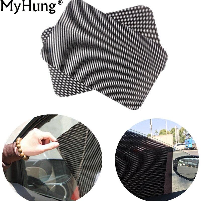 PVC Araba Güneş gölge Kapak Araba Oto Aksesuarları Perde Cam Sticker Güneş gölge UV Koruma Yan Cam Filmi 63x42 cm 2 Adet
