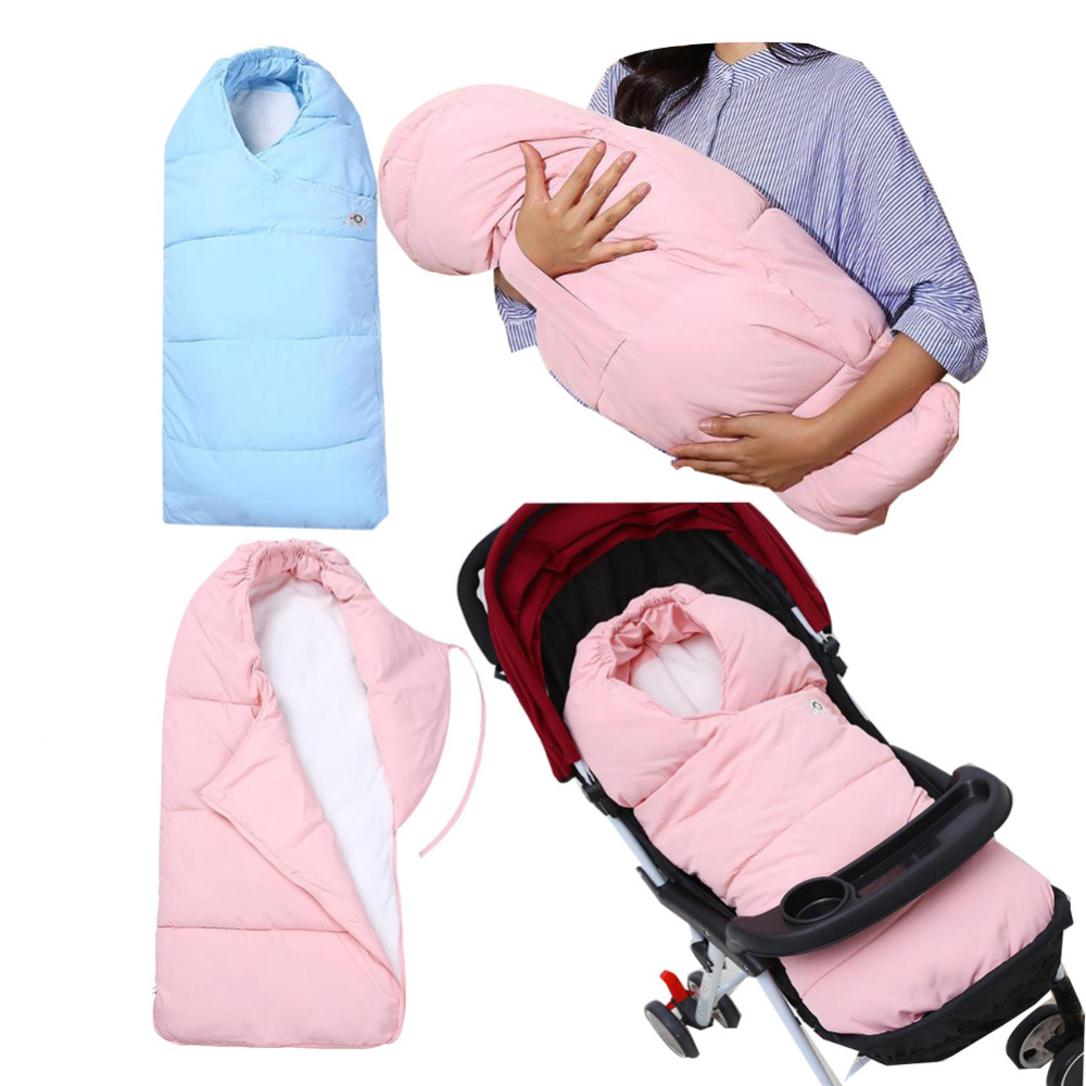 Baby sleeping bag windproof Baby Stroller baby stroller footmuff Universel stroller Sleeping Bag envelopes for newborns warm baby stroller sleeping bag fleece prams footmuff infant swaddle wrap envelopes for newborns baby blanket 4 colors sleepsack